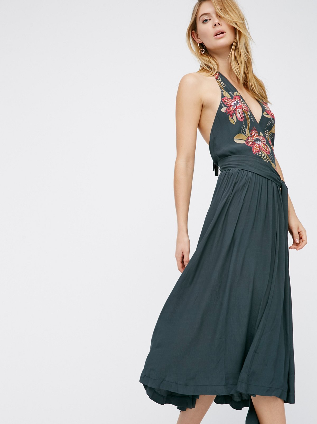 Get In Line Floral Midi