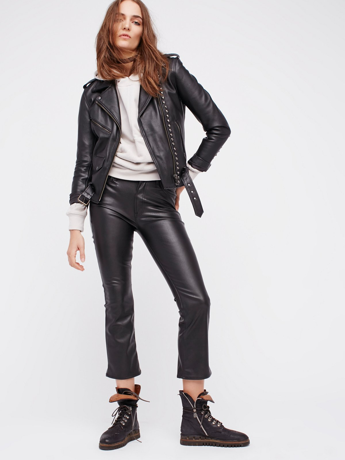 The Insider Vegan Leather Crop