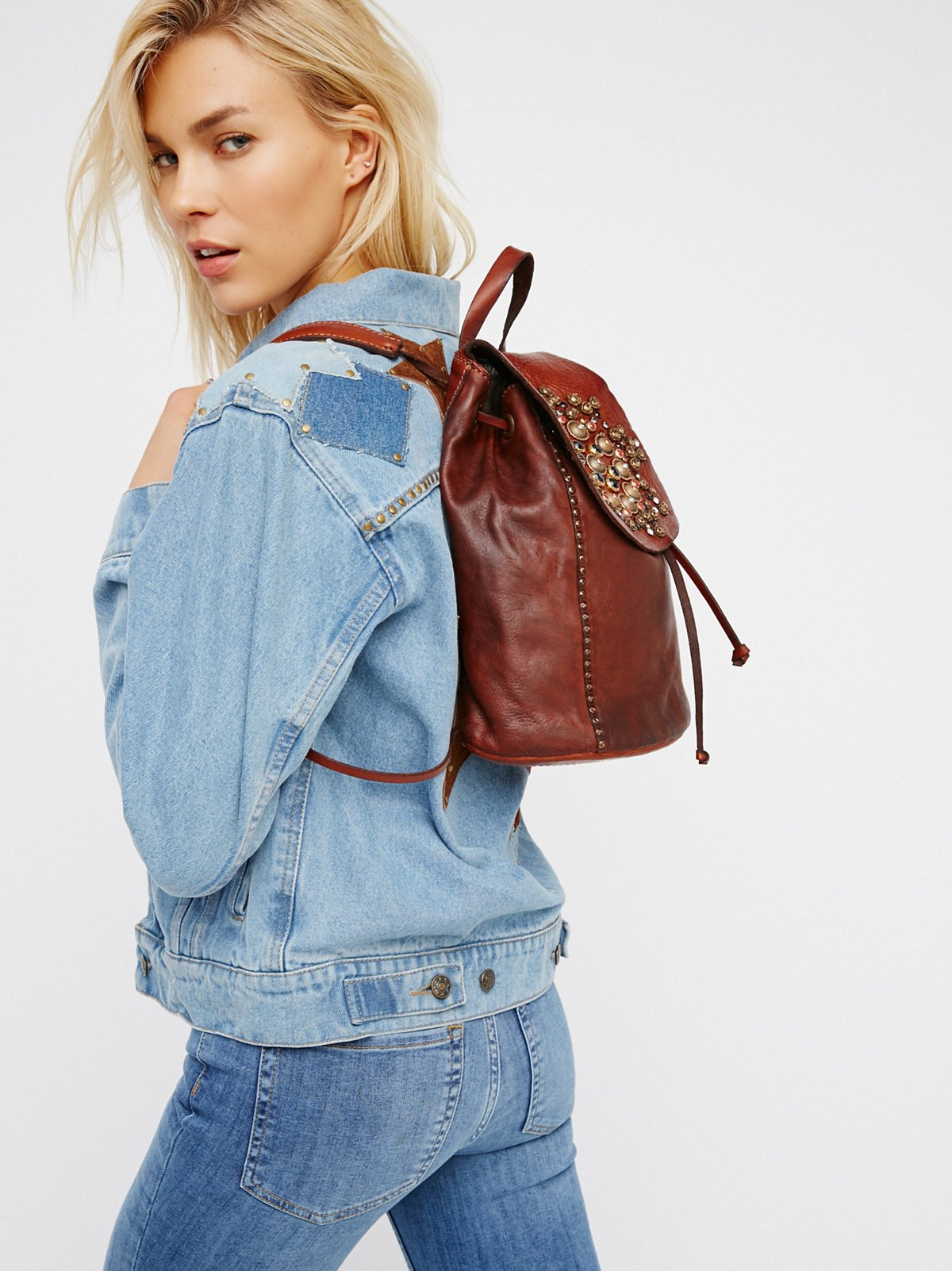 Sacra Studded Backpack