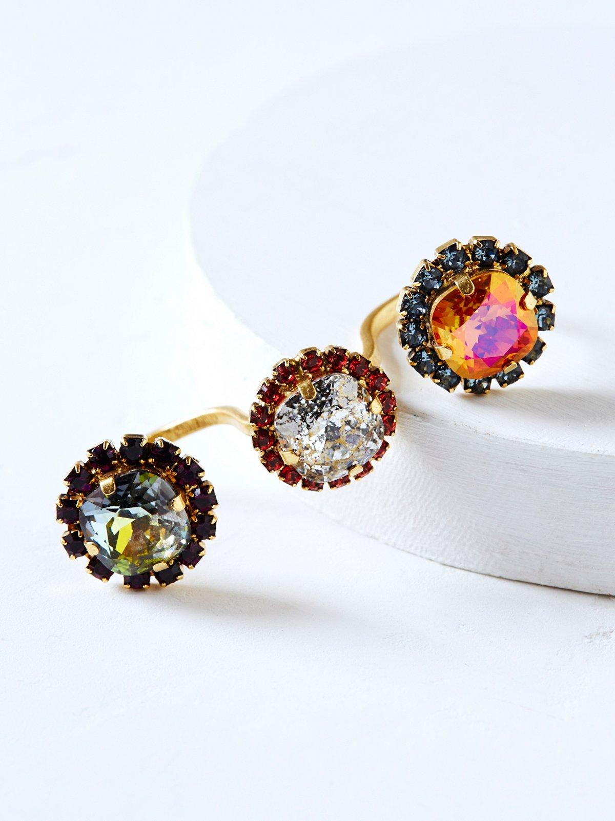 Triplet Crystal Ring