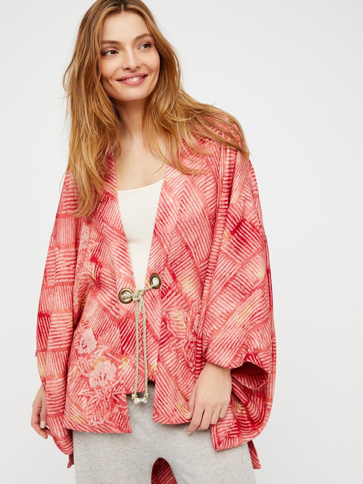 Shibori Printed Kimono