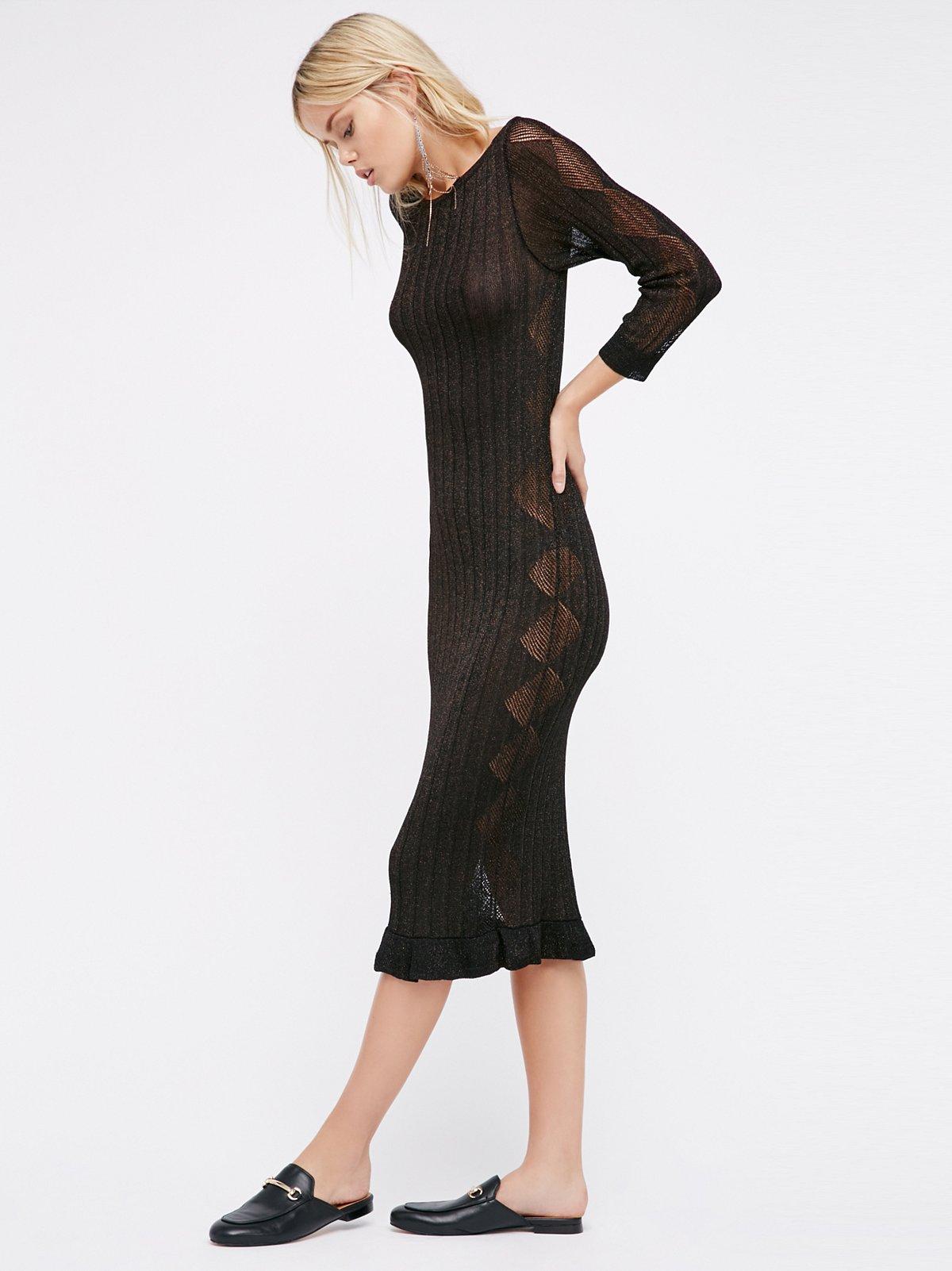 Astrid Pointelle Midi Dress