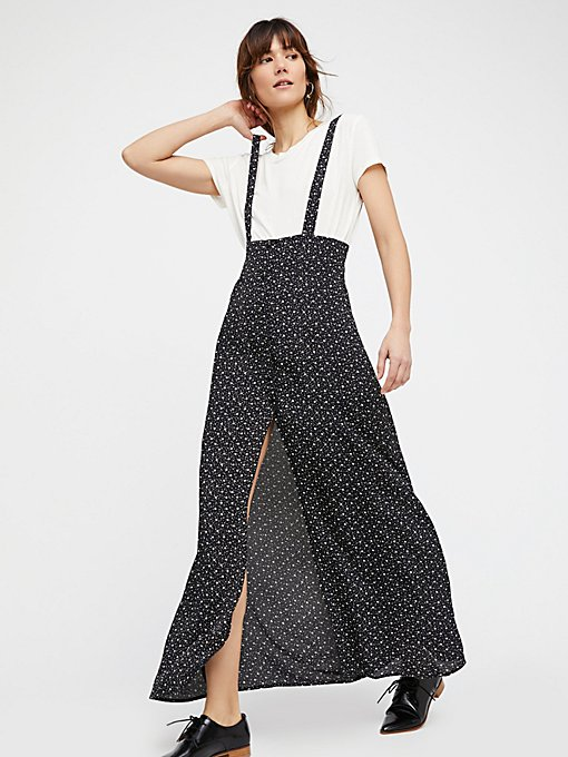 Product Image: Moss Maxi Pinafore Dress