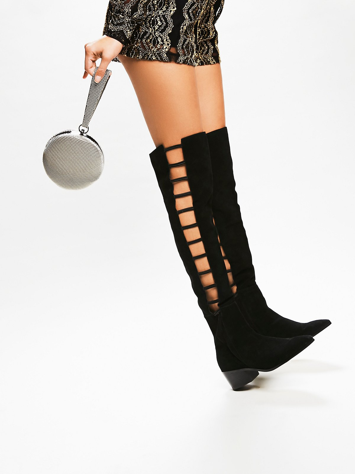 Ladder Over the Knee Boot