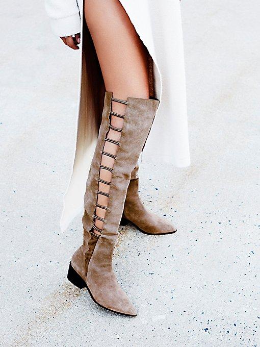 Product Image: 梯状镂空过膝长靴