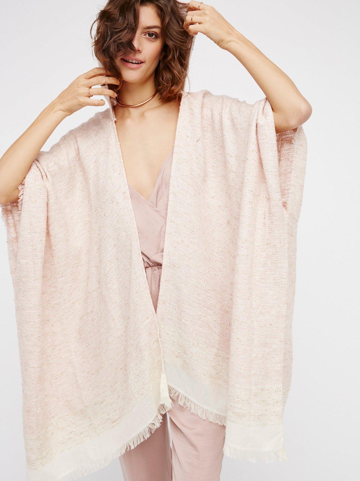 Knubby Hooded Kimono