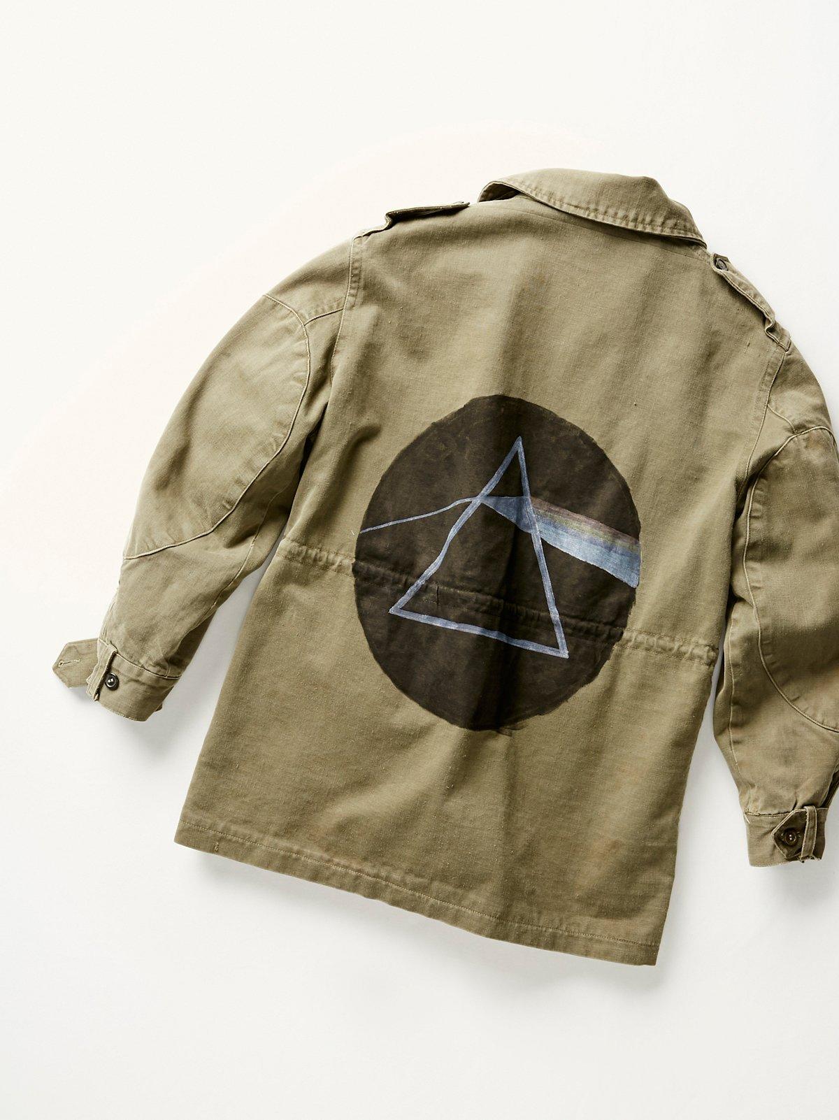 Vintage 1970s Painted Military Jacket
