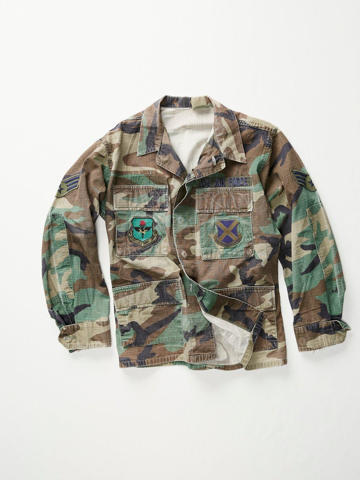 Vintage 1980s Army Jacket