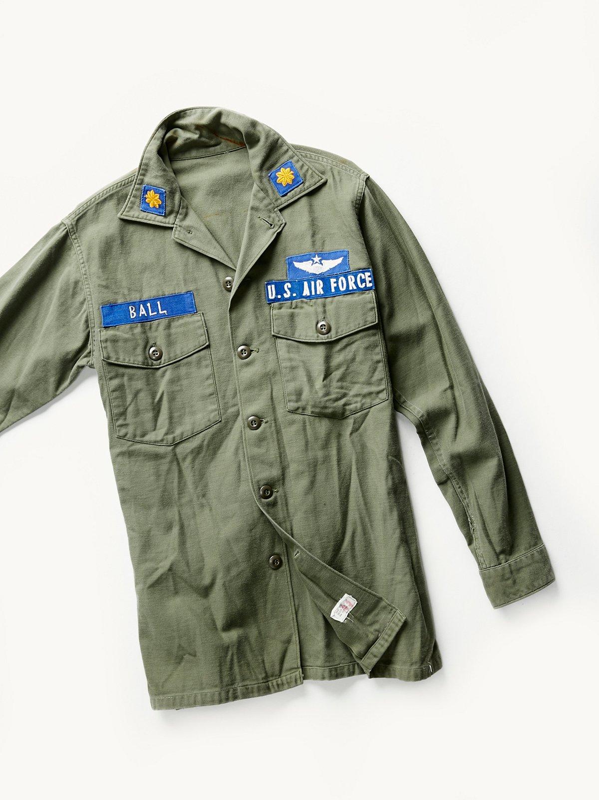 Vintage 1970s Military Shirt