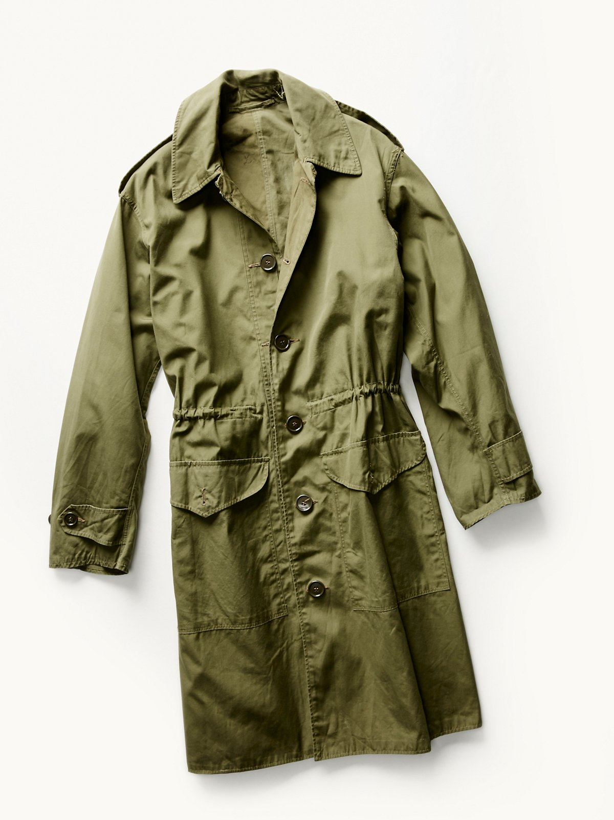 Vintage 1960s Military Trench Coat