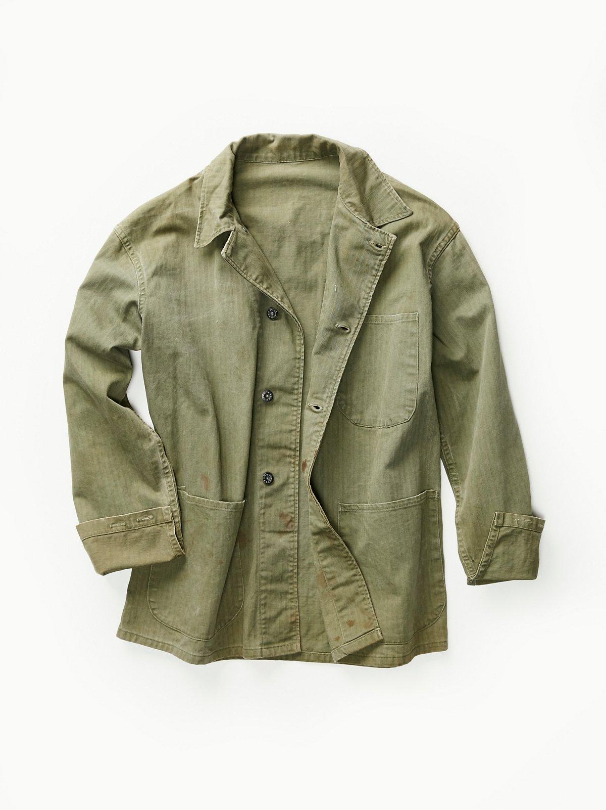 Vintage 1940s Military Jacket