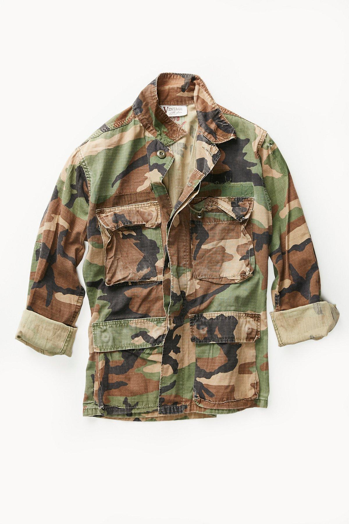 Vintage 1980s Military Jacket