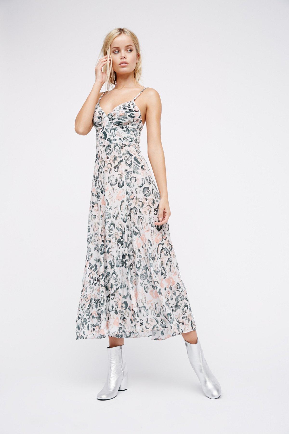 Godet Slip Dress