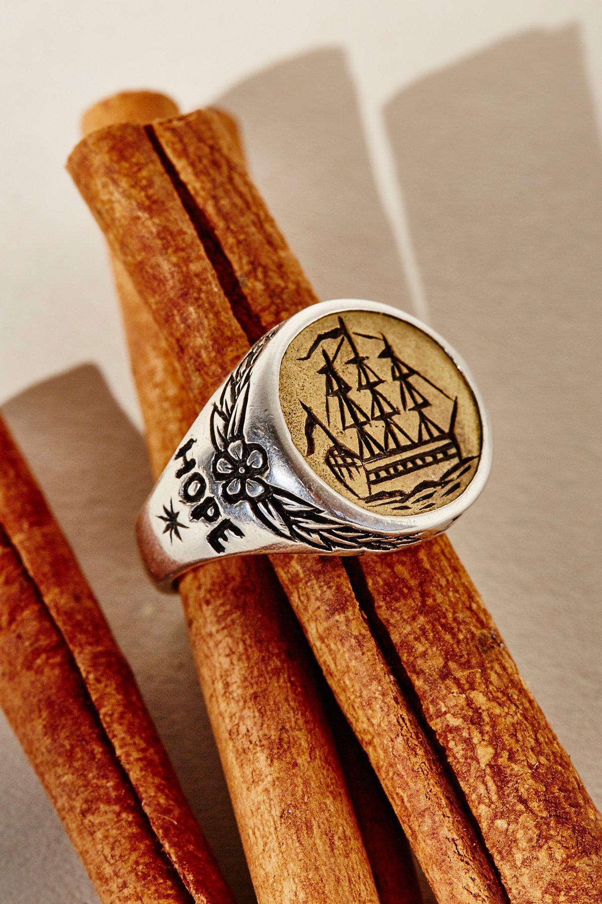 Albion Ship Signet Ring