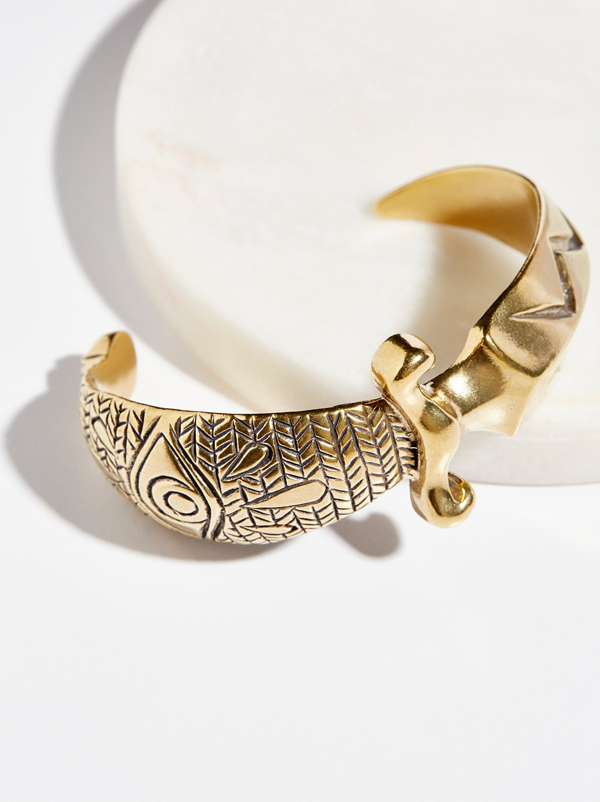 Brass Dagger Cuff