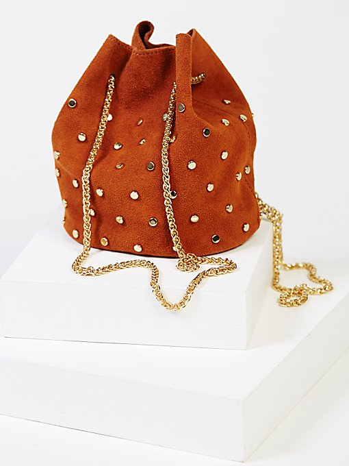 Product Image: Studded Suede Party Pouch