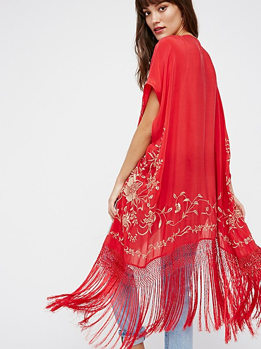 Product Image: Ophelia刺绣流苏和服式上衣