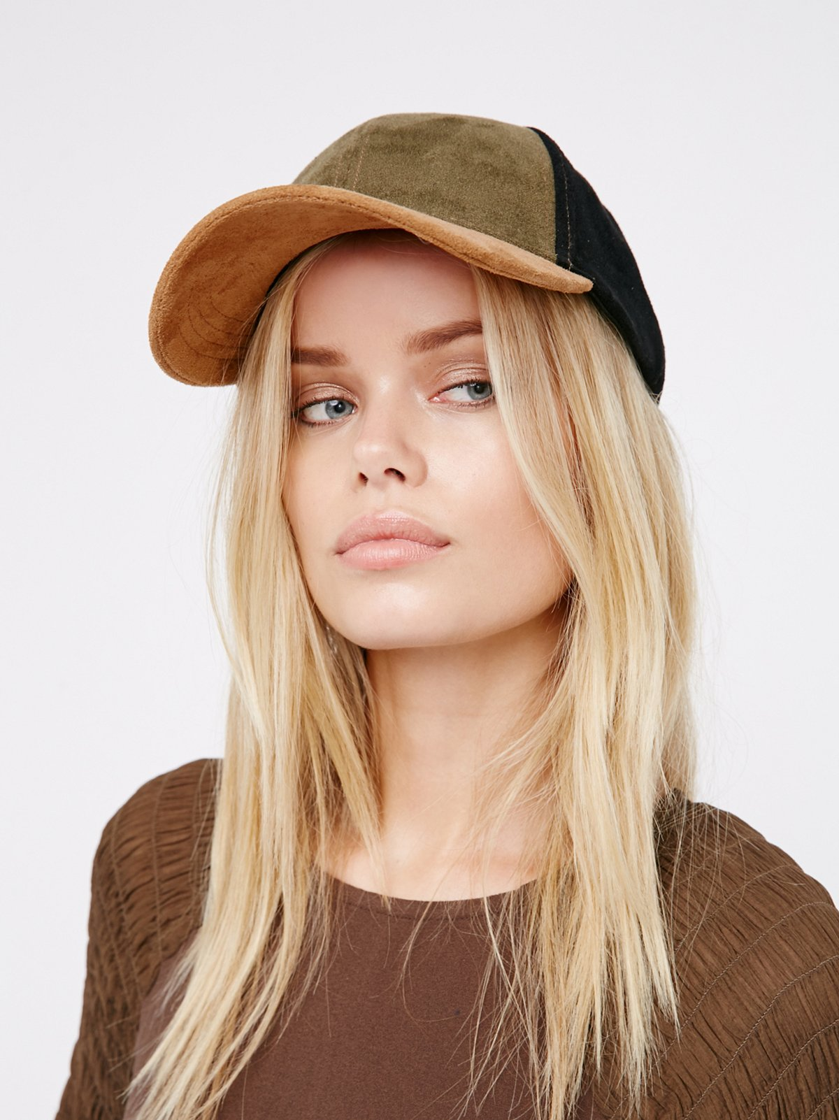 Ace Patchwork Suede Baseball Hat