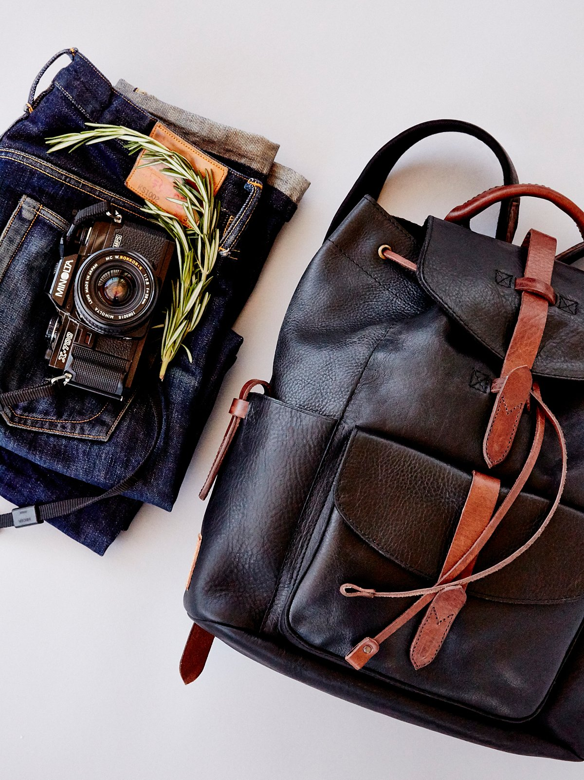 Rainier Leather Backpack