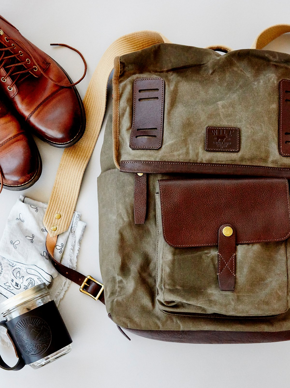 Timberline Canvas x Leather Backpack