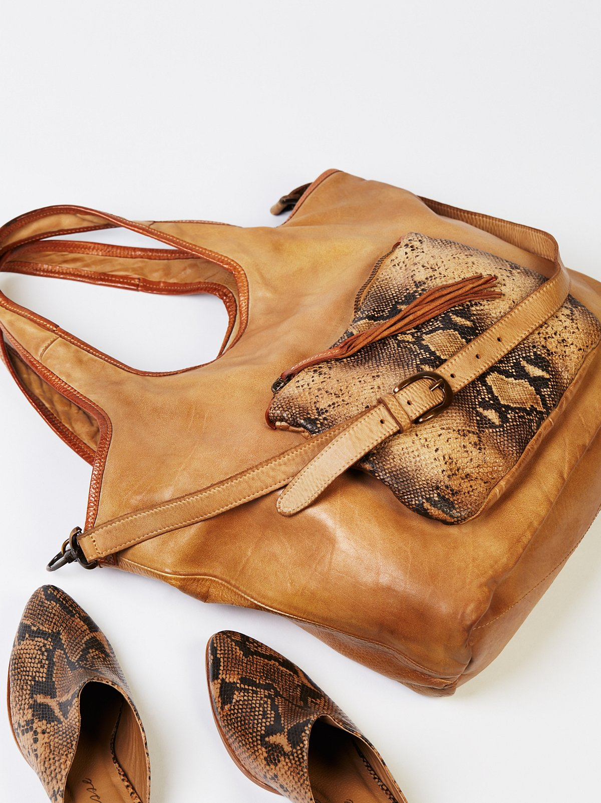 Sisto Distressed Leather Tote