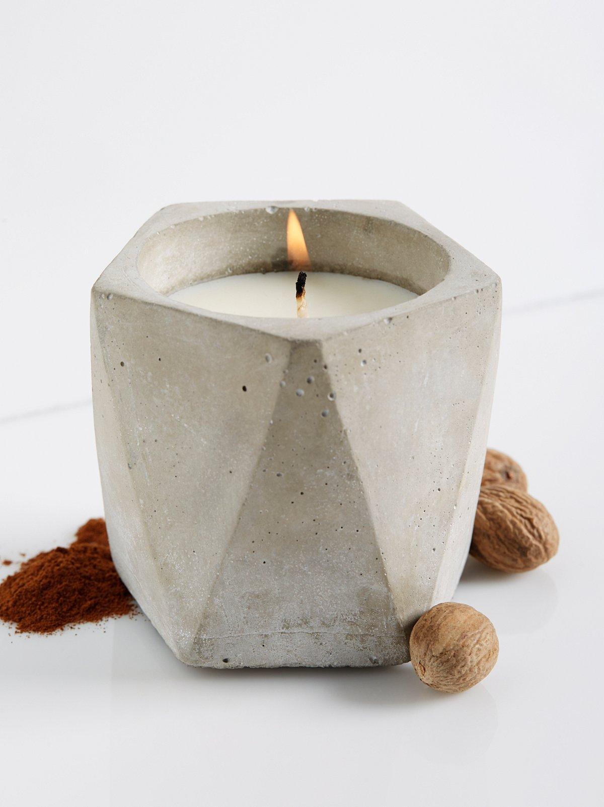 Cement Candle Pentagon