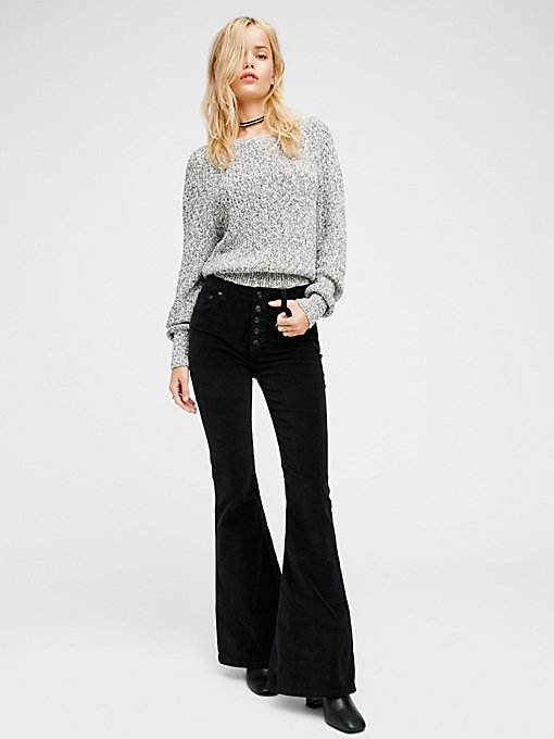 Product Image: Soma修身毛边灯芯绒喇叭裤