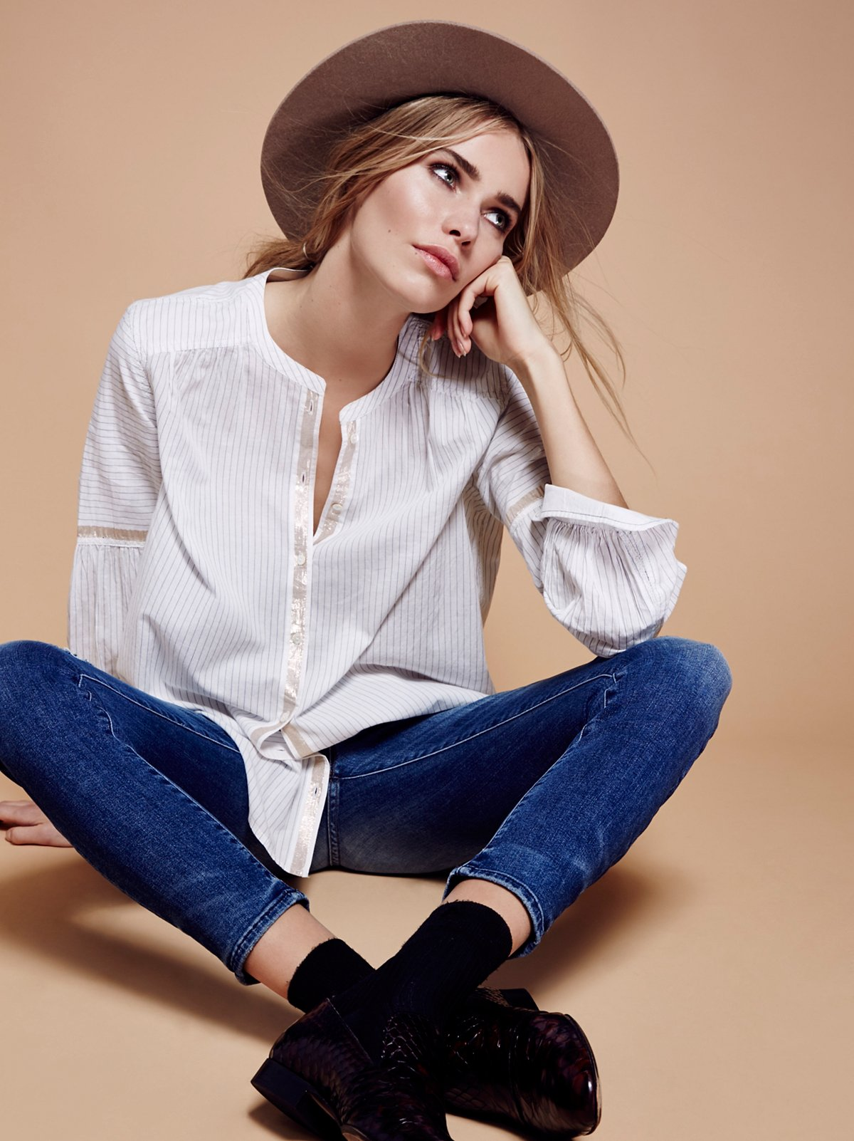 Shimmers and Stripes Buttondown