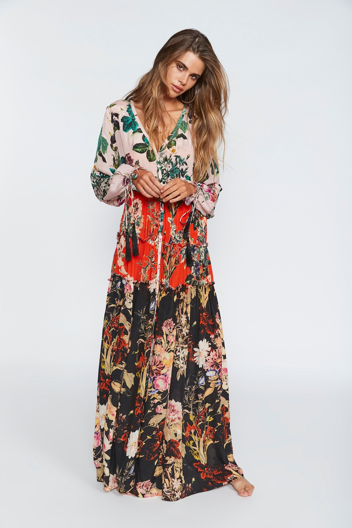 Mixed Floral Maxi Dress