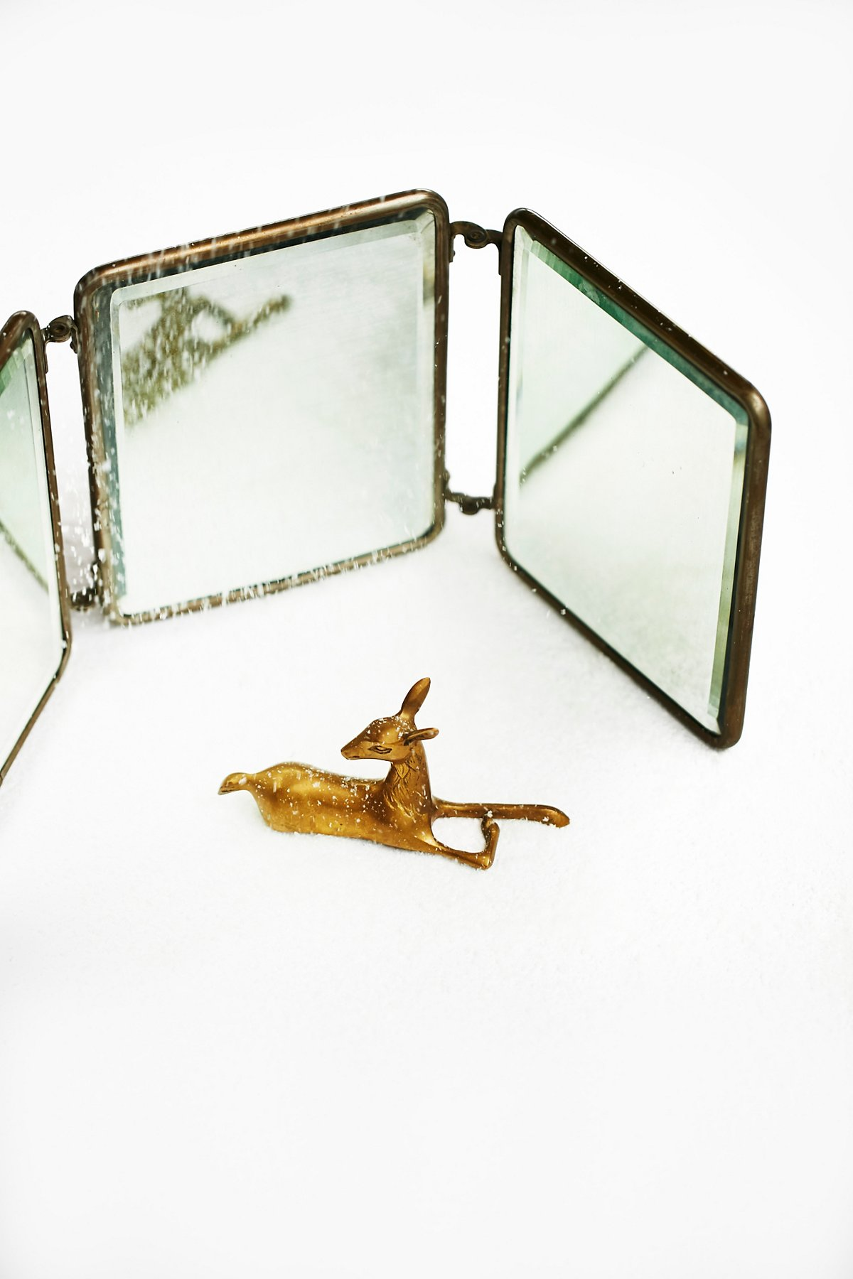 Vintage 1940s Folding Mirror