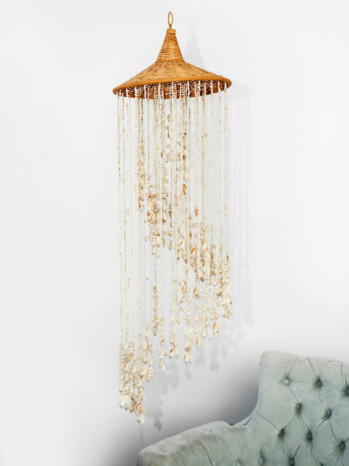 Vintage 1970s Shell Chandelier