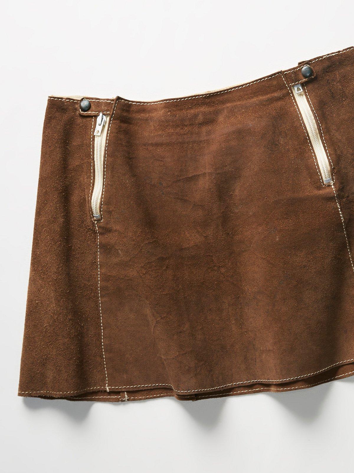 Vintage 1960s Suede Skirt
