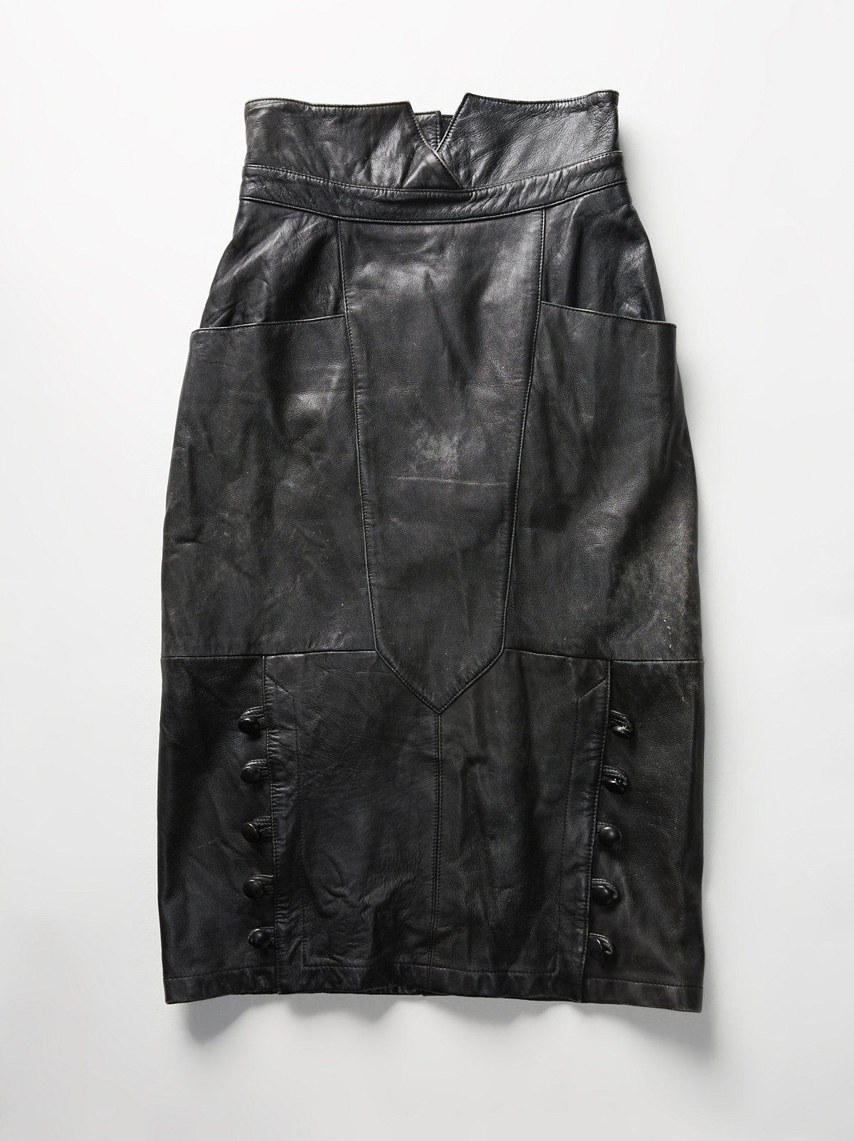 Vintage 1980s Leather Skirt