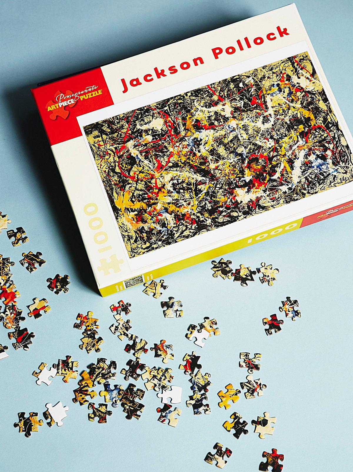 Vintage 1970s Jackson Pollock Jigsaw Puzzle