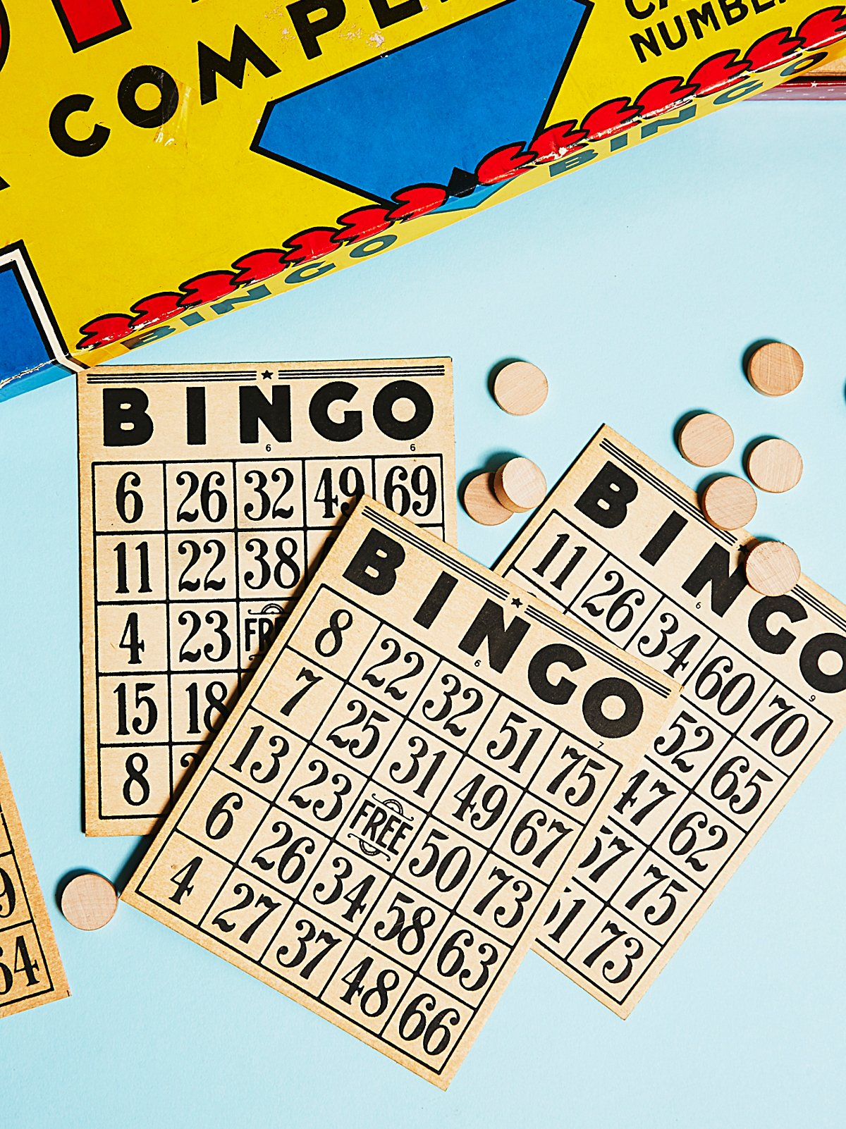 Vintage 1930s Bingo Board Game