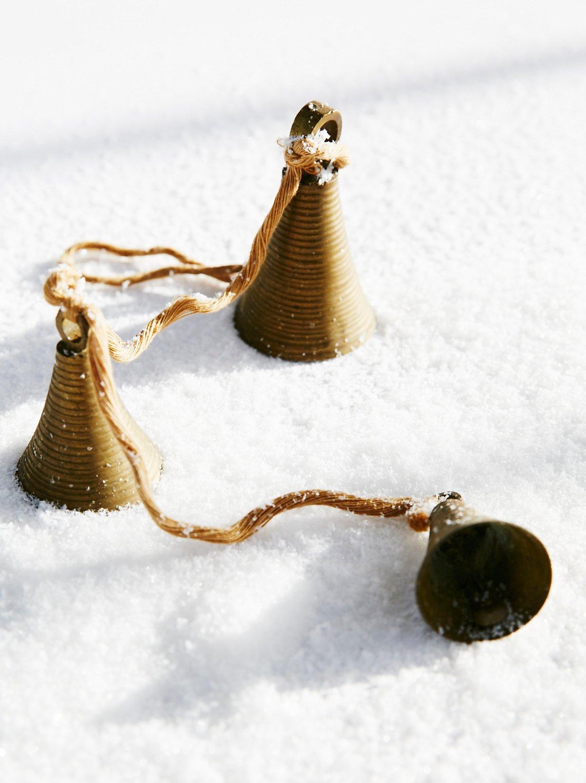Vintage 1950s Hanging Brass Bells