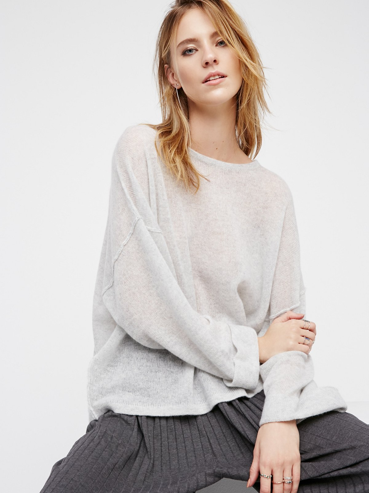 After It Rains Cashmere Pullover
