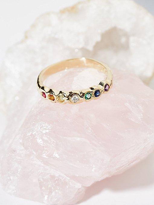 Product Image: 14k金彩虹单环戒指
