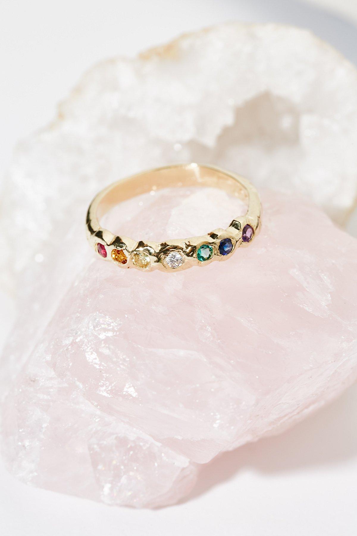 14K Rainbow Band Ring