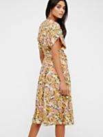 Fitting In Floral Midi Dress at Free People Clothing Boutique