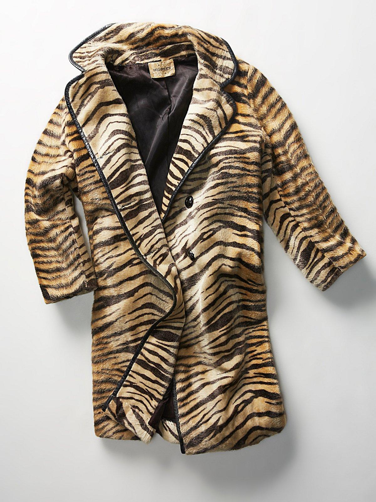 Vintage 1960s Zebra Swing Coat