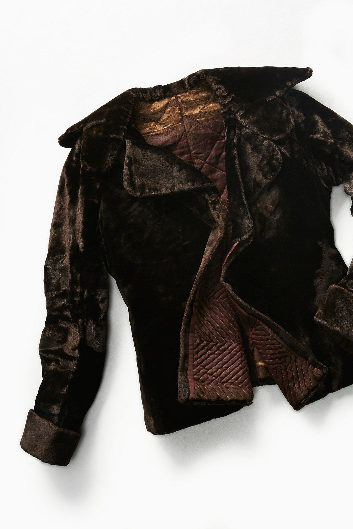 Vintage Victorian Velvet Coat