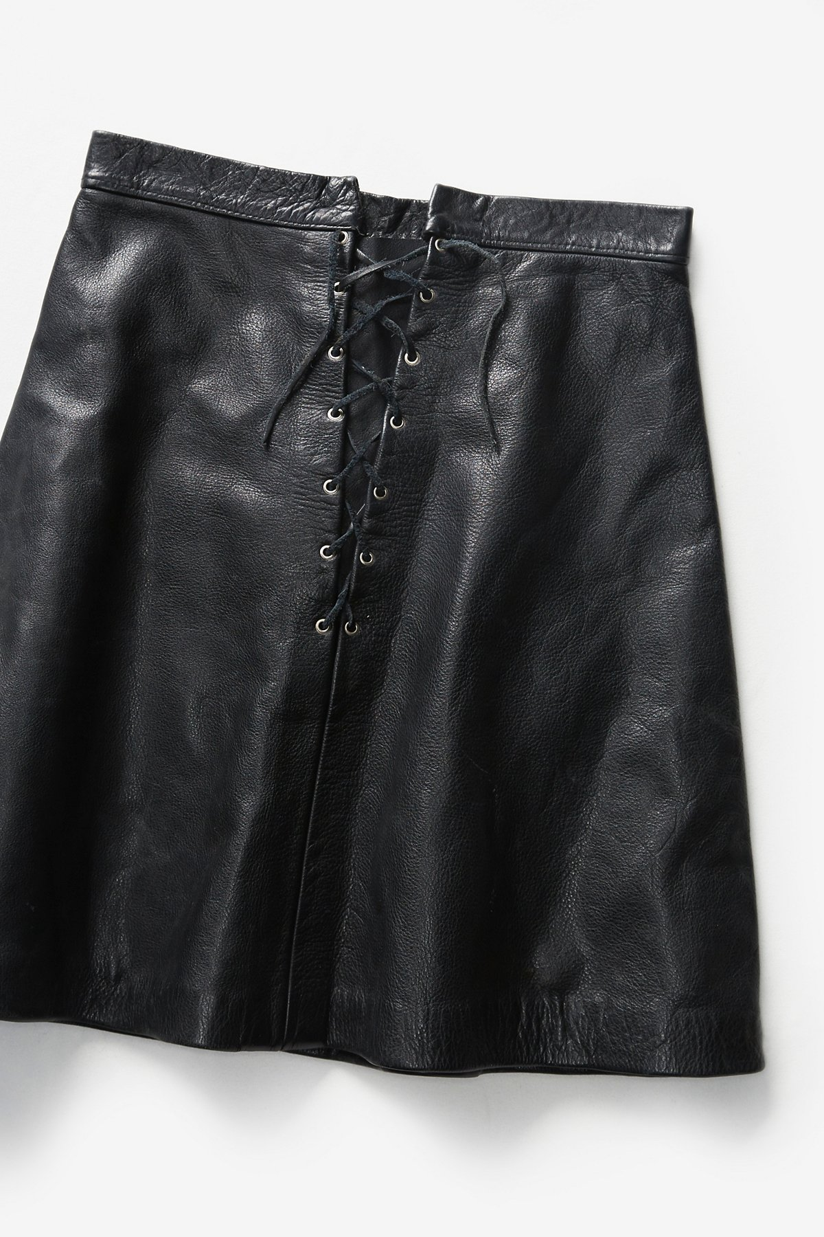 Vintage 1980s Leather Skirt