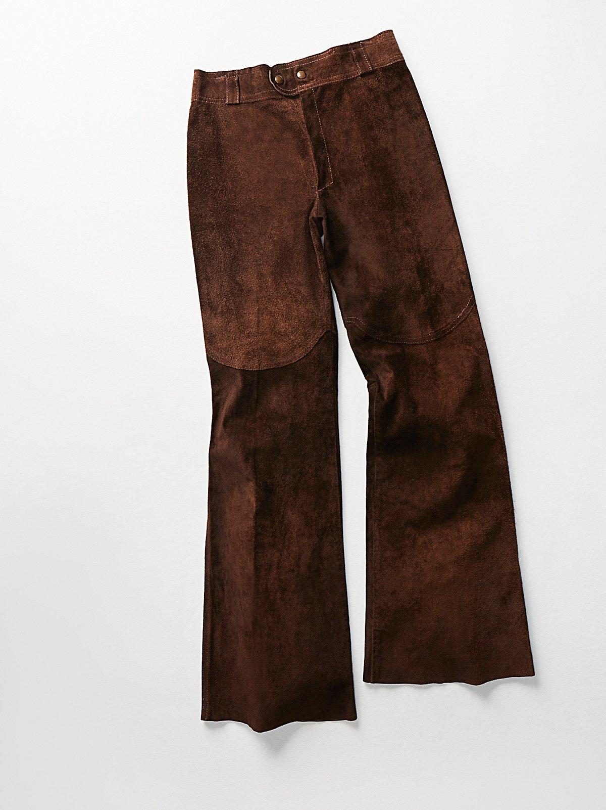 Vintage 1970s Rough Out Suede Pants