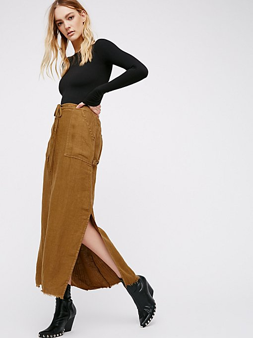 Product Image: City Streets Linen Maxi Skirt