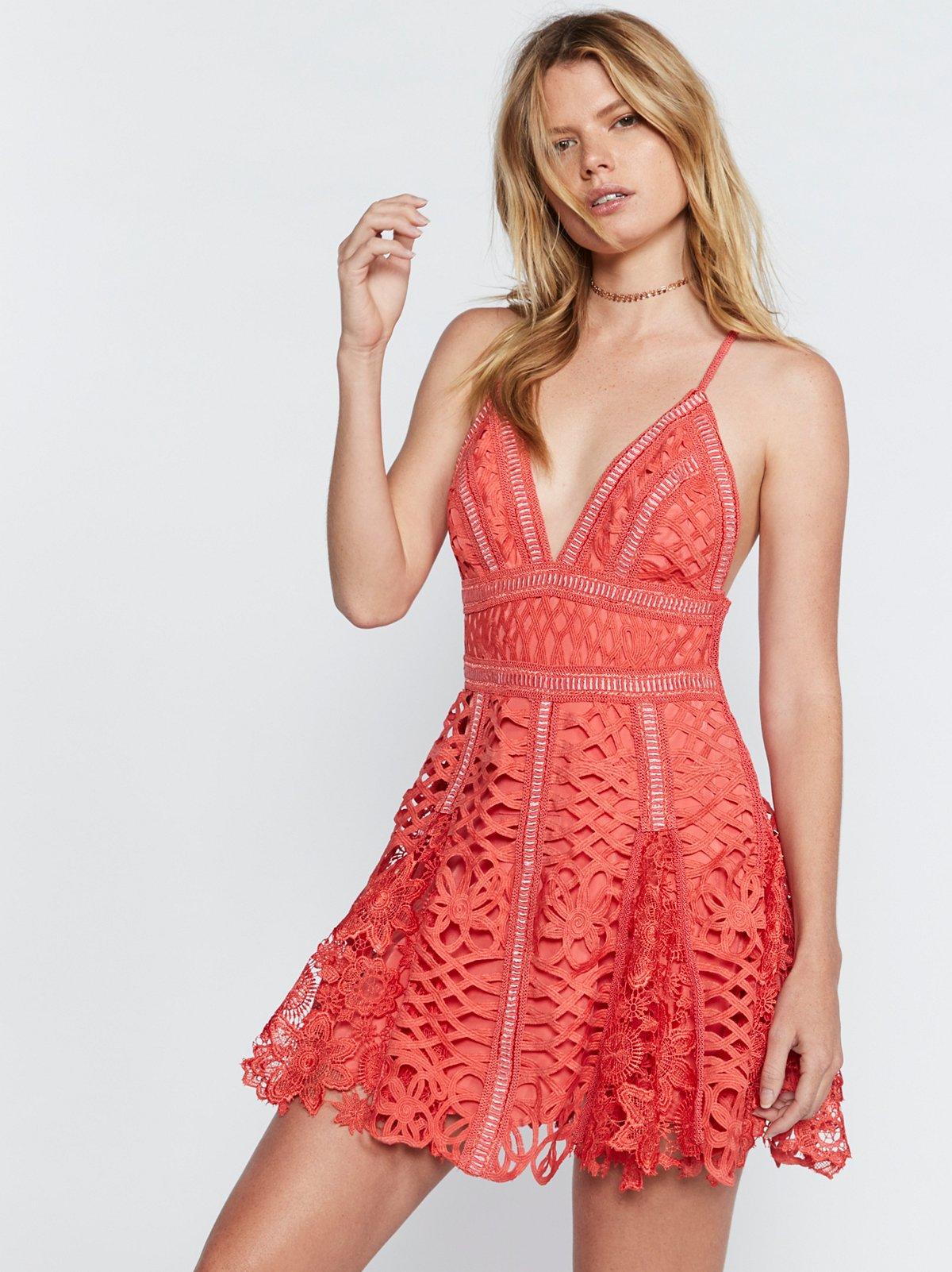 Raven Lace Mini Dress