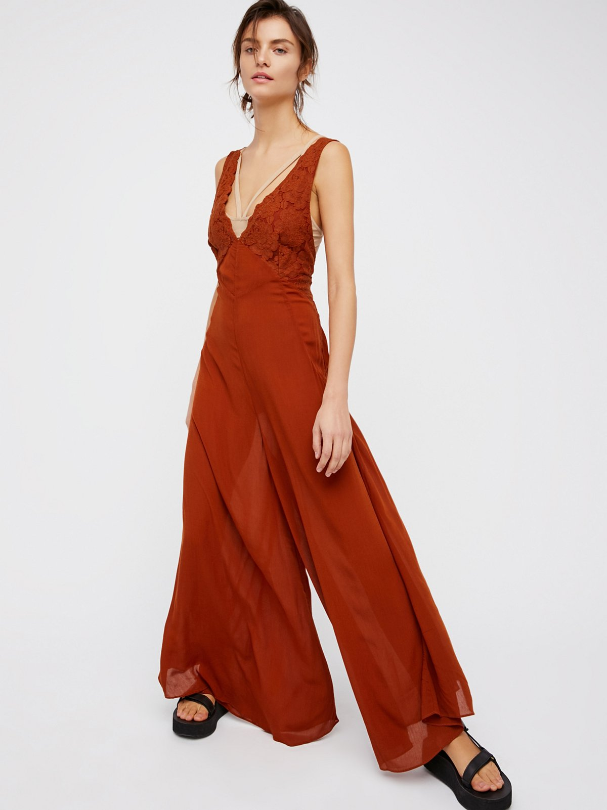 Dahlia Wide Leg Jumpsuit