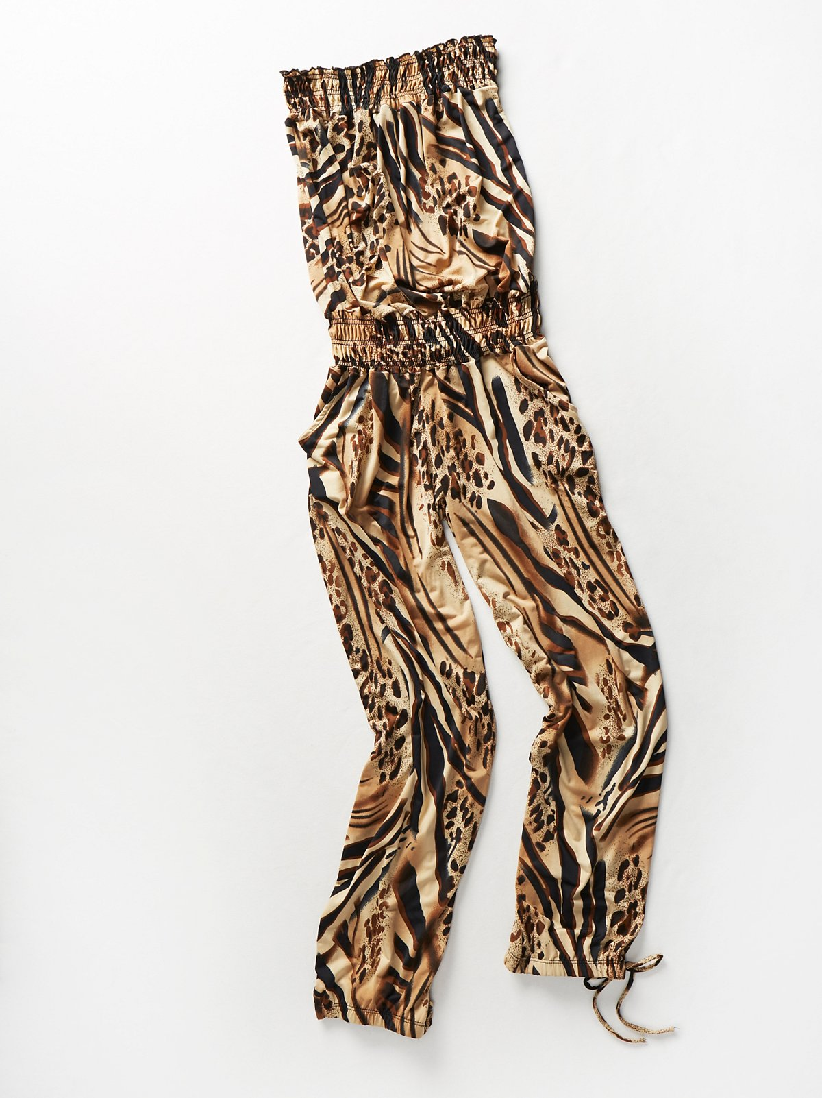 Vintage 1980s Animal Print Jumpsuit