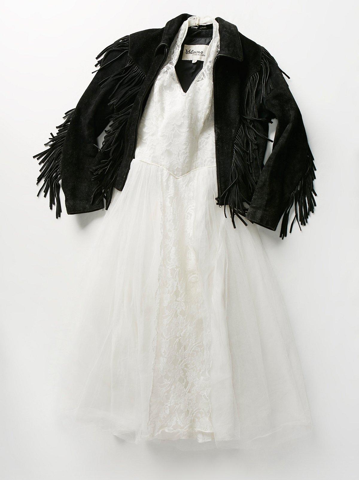Vintage 1950s Lace Halter Dress