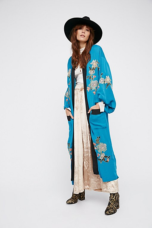 Product Image: Floral Embroidered Kimono
